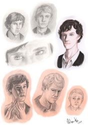 Sherlock bbc sketches by NAM-KE
