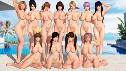 Dead or Alive DOA Nymphs by RadiantEld