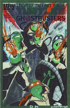 Tmnt/Ghostbusters blank cover art by spacetick