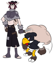 APcP Art: The Thief and the Clucker by JamesmanTheRegenold