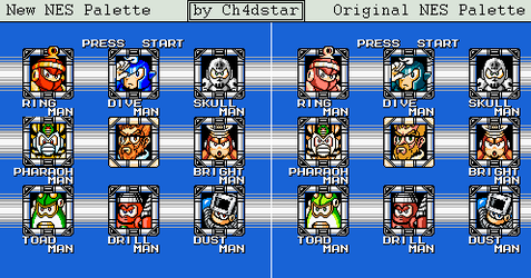 Mega Man 4 Stage Select Remake by Ch4dStar