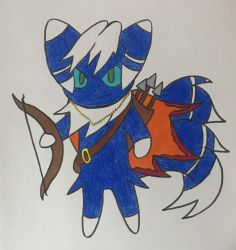 Meowstic The archer~! by nikkikirkland