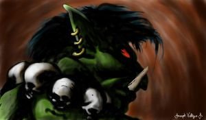 Gunrok The Cave Troll by radioactiveroach