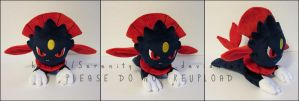 Plushie: Laying Weavile by Serenity-Sama