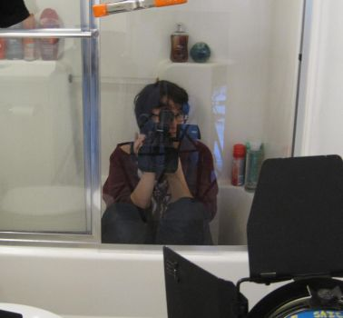 Filming in my shower by MarshMELLOkiller