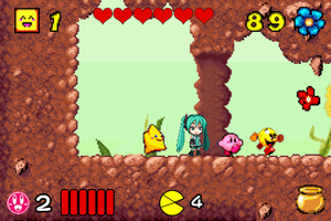 Starfy Miku Kirby Pac-Man in The Bee Game by vinhchaule
