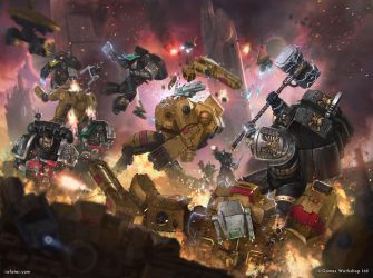 Deathwatch vs Tau battlesuits by rafater by rafater