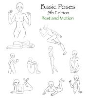 Basic Poses 5 by darkflower8923