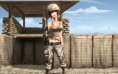 Cpl. Rhyan Stone - Royal Marine days by xZDisturbedZx