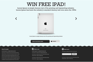 Landing Page Apple Style by psd-fan