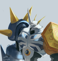Omegamon color practice by J3rry1ce