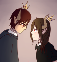 The King and Queen by UMarble