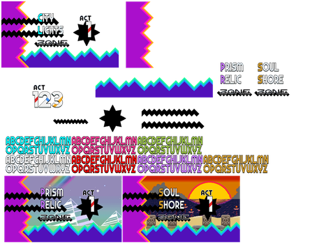 Sonic Hysteria Title Card Sprites by Alex13Art