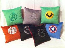 Avengers Assemble! ...into pillows! by PlanetPlush