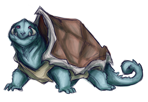 Realistic-ish Squirtle by strxbe