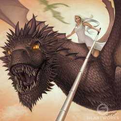 Sefie with Dragon by Silartworks