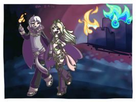 Henry and Nowi wreaking havoc by evaceratops