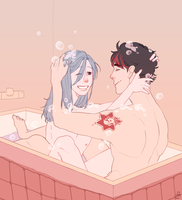 Bath time [commission] by CAPImichi