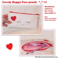 Lovely Happy Face pouch by BlueDove415