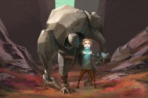 A Boy and his Golem by LukasBanas