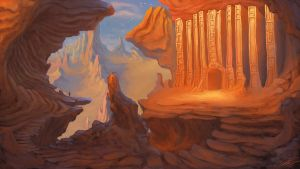 Sky Rock Temple by Chillay