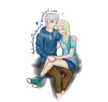 Elsa and Jack :3 by RadioactiveMushroom1
