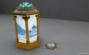 tuxedo mirage memorial ornament 3d by digitalAuge