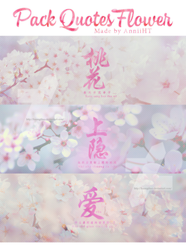 [09072016] [Share PSD] Pack Quotes Flower by HuongThao