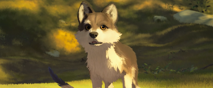 White Fang - Puppy Look At Chicken (View 2) by valkryex4thewin