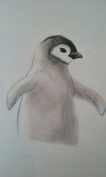 Penguin chick by NightMoonShine
