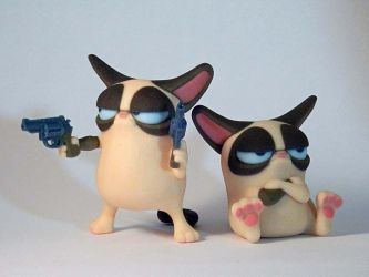 Two Cat Ornaments by mattbag