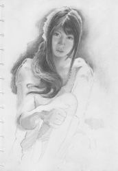study with pencil on paper by twiens