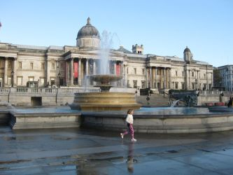 The Tate Gallery, Trafalgar Square by TarJakArt