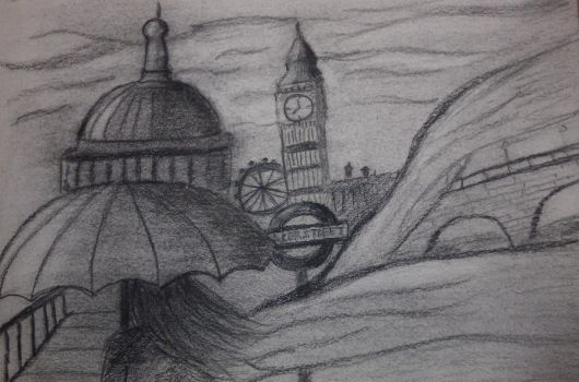London in Charcoal by dbz-fan-jess