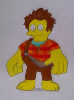 Wreck-It Ralph Wiggum by Infineato
