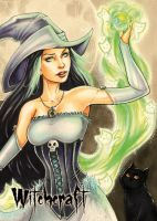 Witchcraft Base Card Art by Collette Turner by Pernastudios