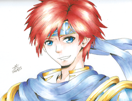 Fire Emblem/Super Smash Bros - Roy Speed Drawing by MissKilvas