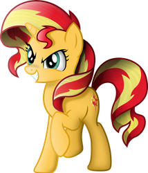 Shaded Sunset Shimmer by TheShadowStone