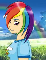 MLP: Human Rainbow Dash by KittyBelle01