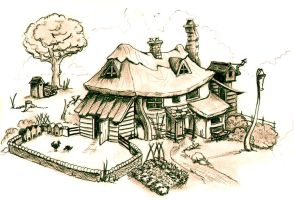 witch's cottage in Lancre by MariDeh