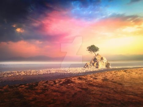 [Premade Background] Solitary Tree by Rowye
