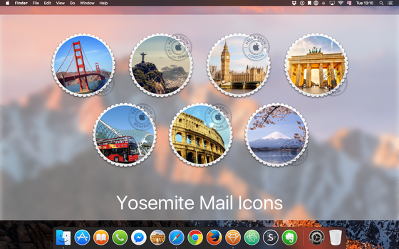 macOS Mail icons by gusbemacbe