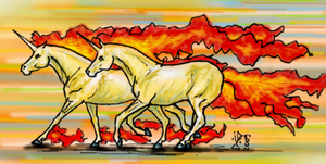 Rapidash galoping by GalopaWXY