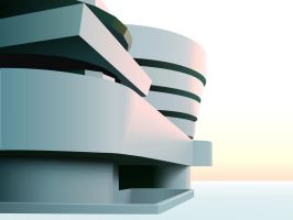 Guggenheim Sunset by unconed