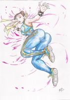 Chun-li Street Fighter 25th Anniversary by RodrigoRainober