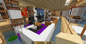 Modern Living Room Minecraft minecraft house design-chill-out roomquicksilver-x on deviantart