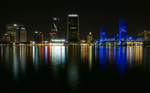 The lights of Jacksonville by alphamegapixel
