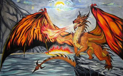 ...::Smaug, Lord Of The Lonely Mountain::... by The-MuseDragon