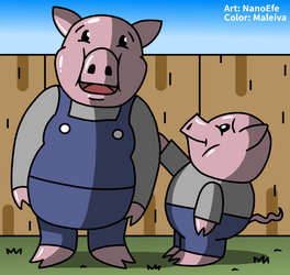 Funny Pigs by Maleiva