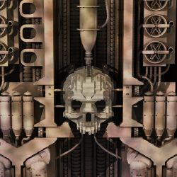 LEGO version of H.R. Giger's Landscape XIX by Steam-HeART
